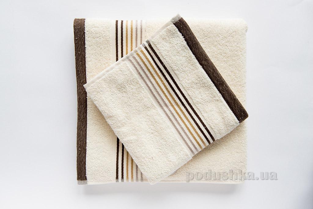 Полотенце махровое Ella Line Liness кремовое