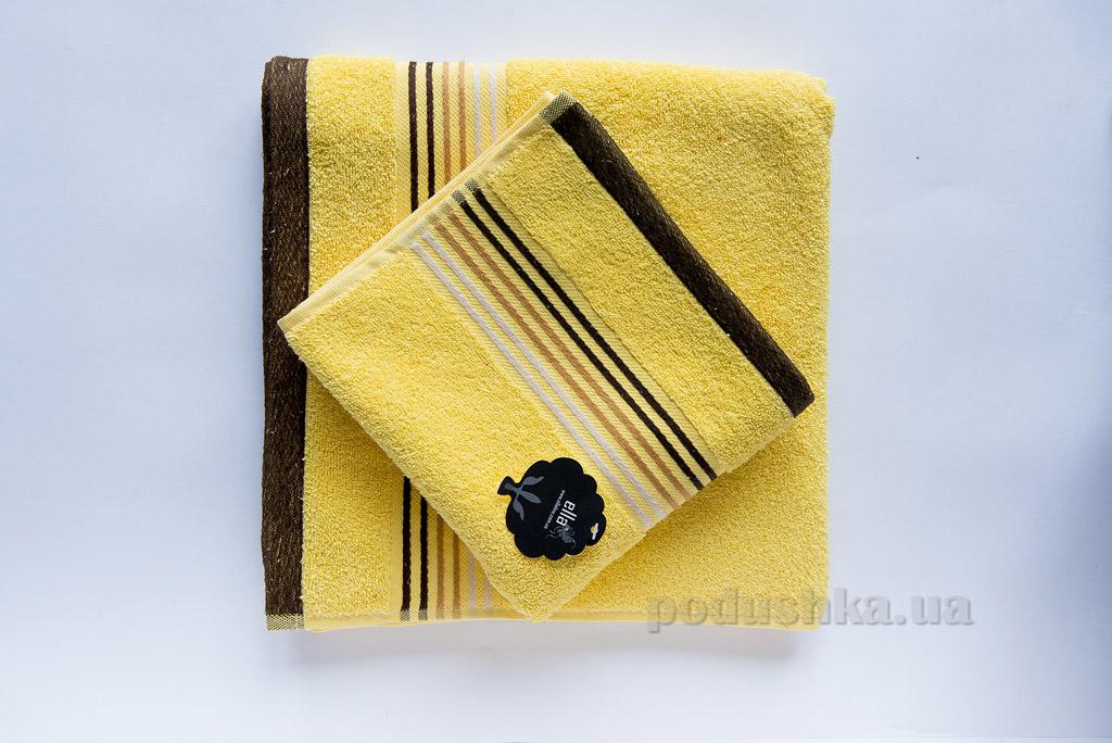 Полотенце махровое Ella Line Liness желтое