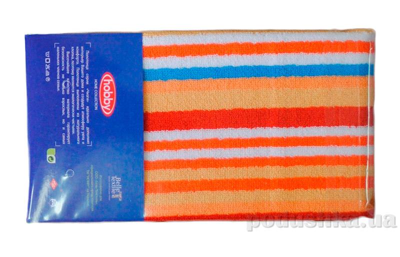 Полотенце махровое Hobby Cizgi оранжевое