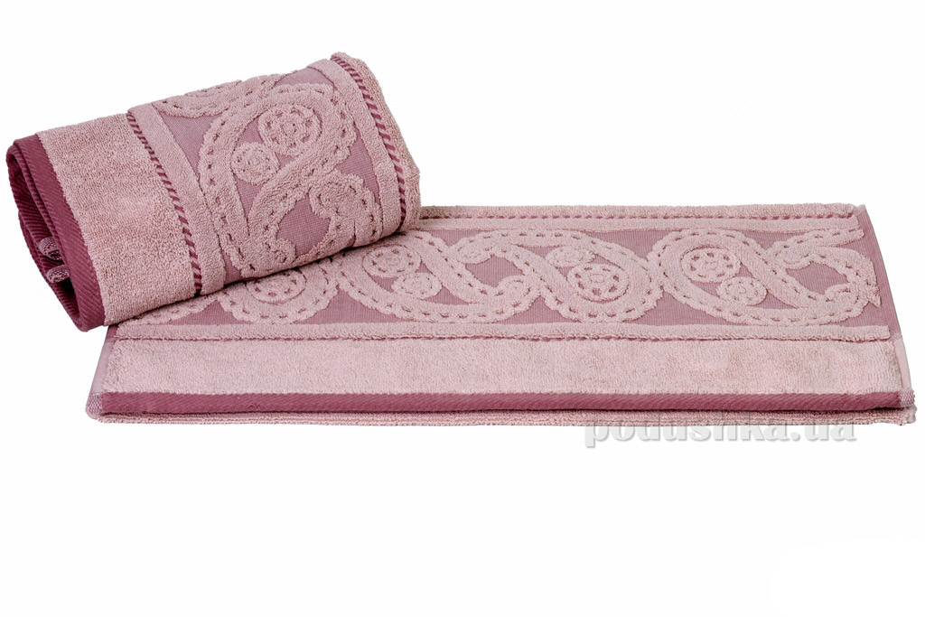 Полотенце махровое Hobby Hurrem темно-розовое 70х140 см  Hobby