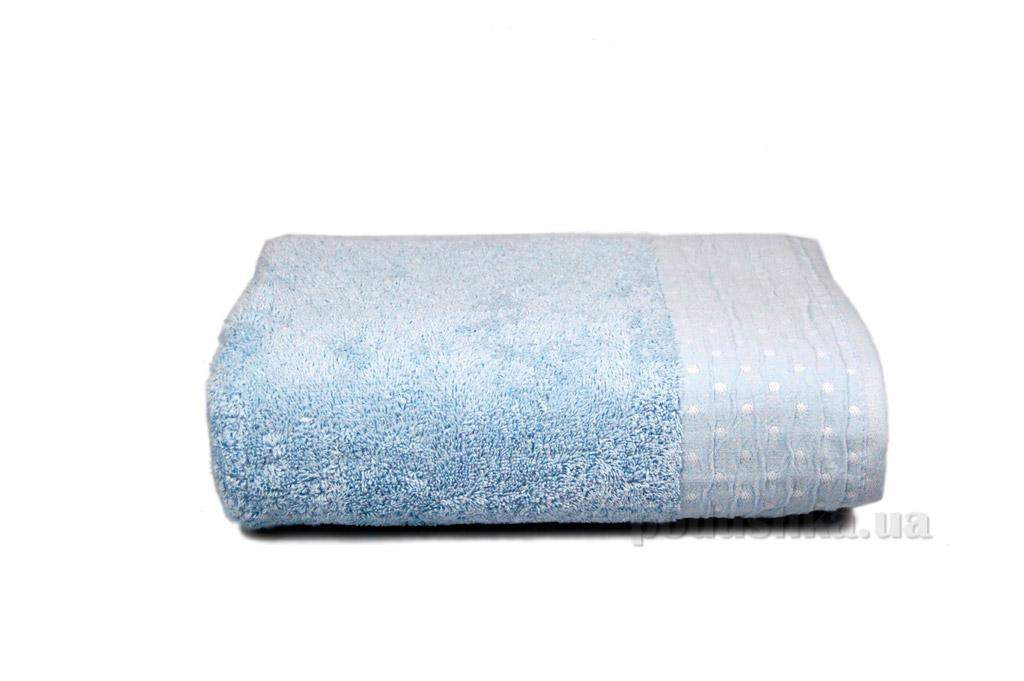 Полотенце махровое Home line Amber голубое