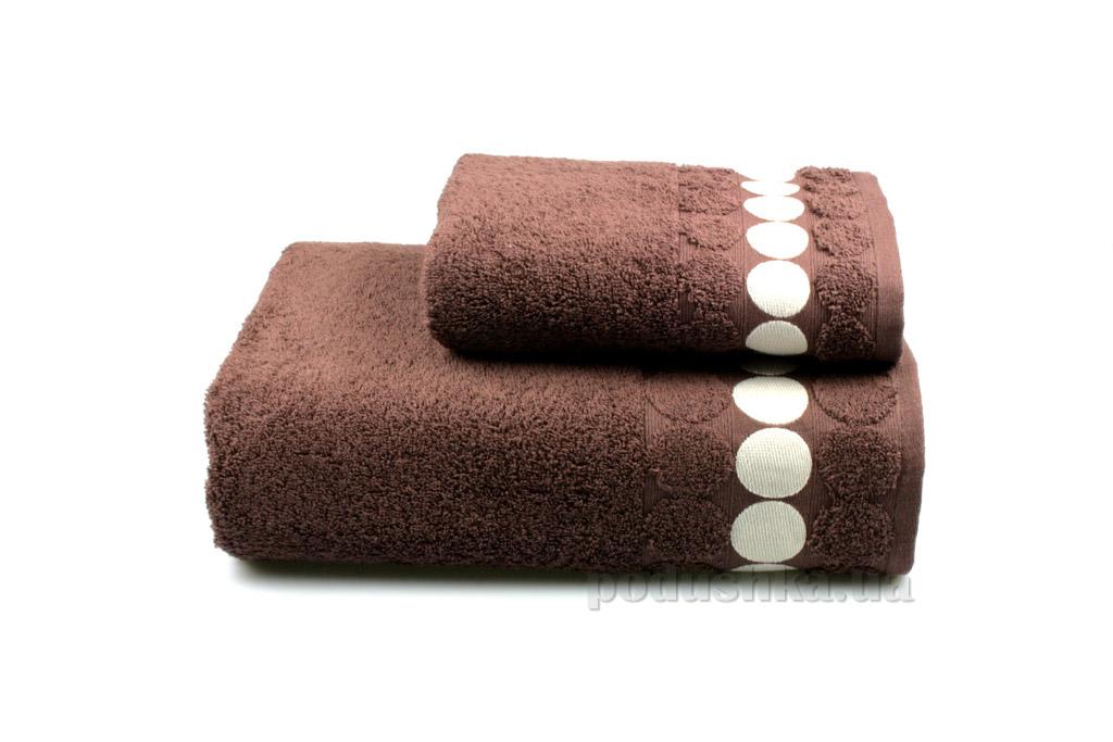 Полотенце махровое Home line Balls коричневое 70х140 см  Home line