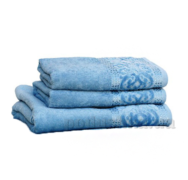 Полотенце махровое Home Line Мел тэм голубой