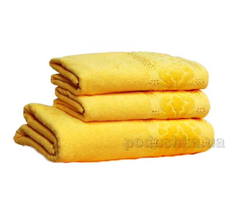 Полотенце махровое Home Line Мел тэм желтый