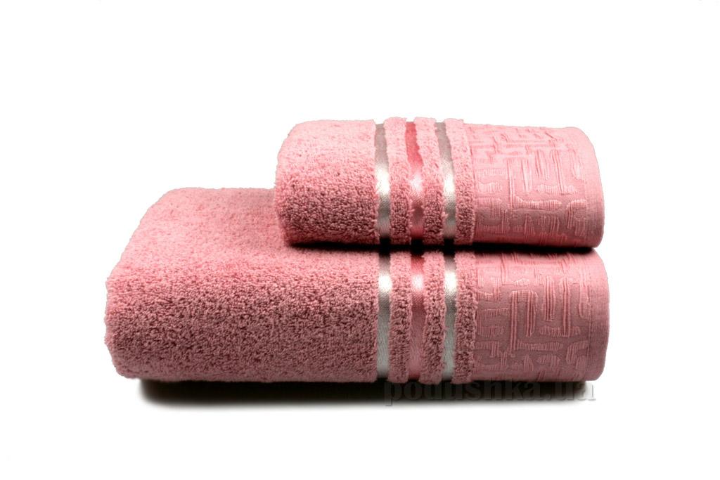 Полотенце махровое Home line Perseus new розовое