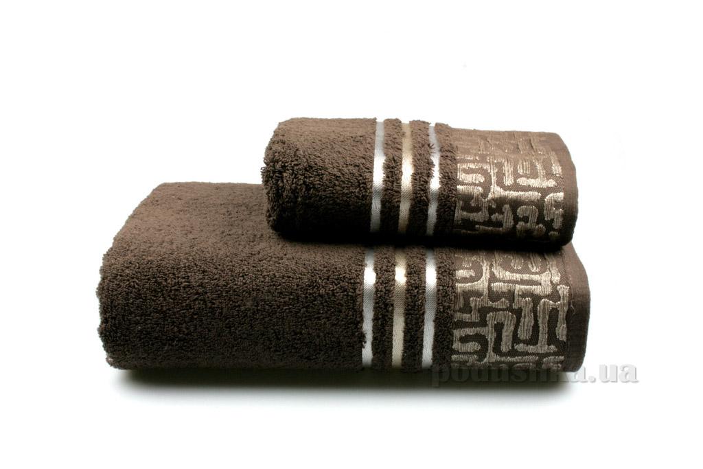 Полотенце махровое Home line Perseus new тёмно-коричневое 50х90 см  Home line