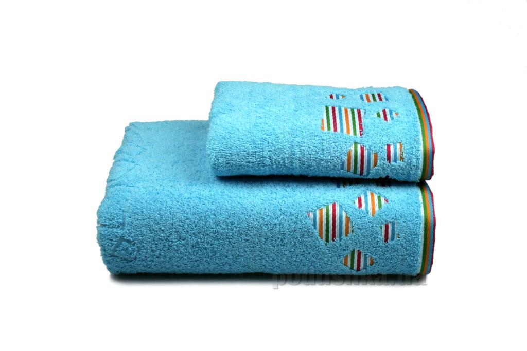 Полотенце махровое Home line Rainbow new голубое