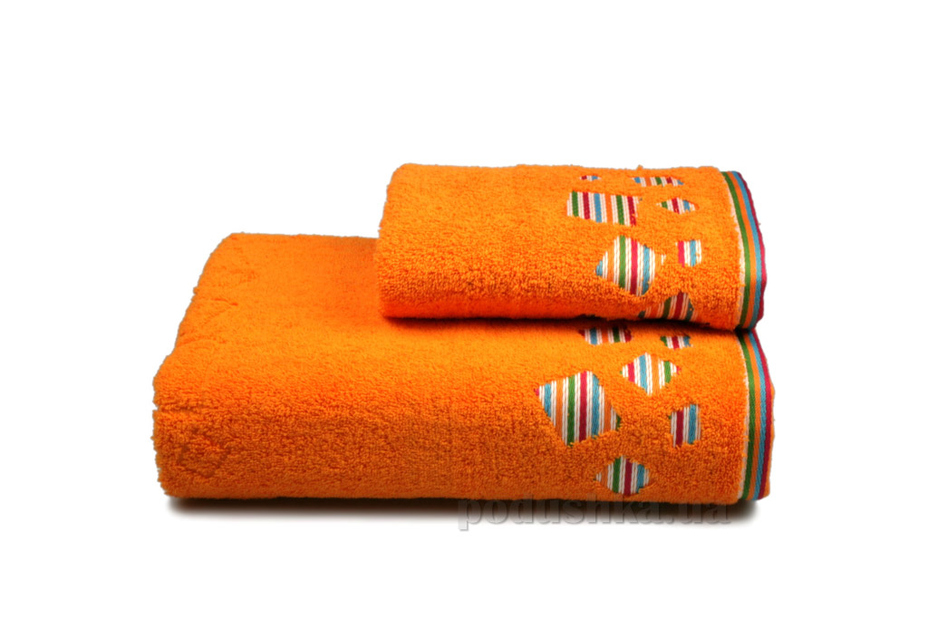 Полотенце махровое Home line Rainbow new оранжевое