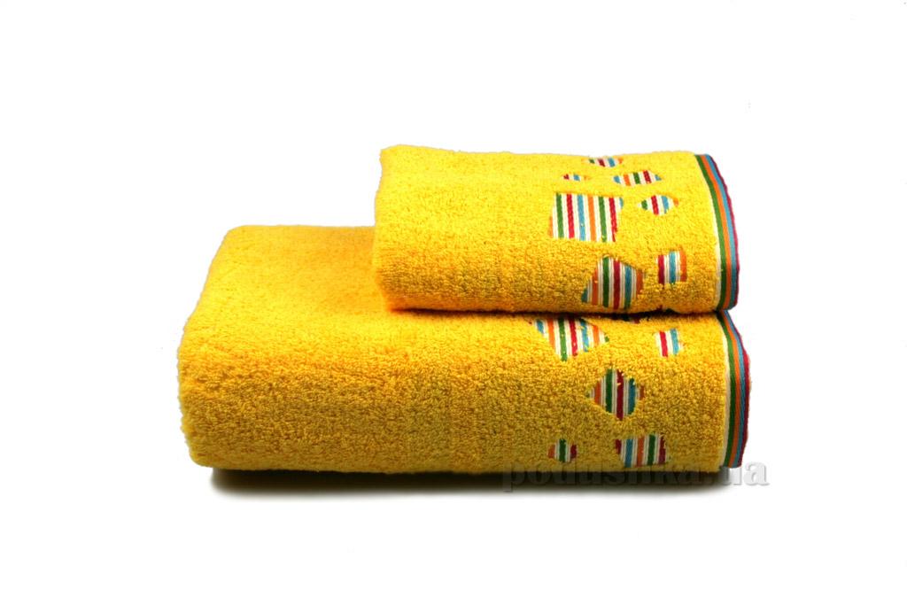 Полотенце махровое Home line Rainbow new желтое