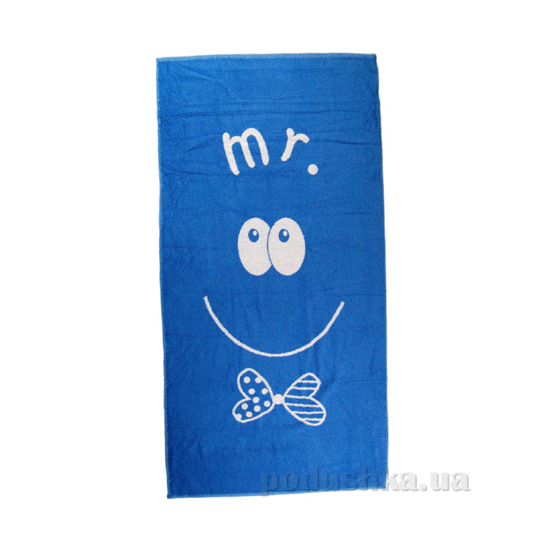Полотенце махровое Home line Smile MR синее