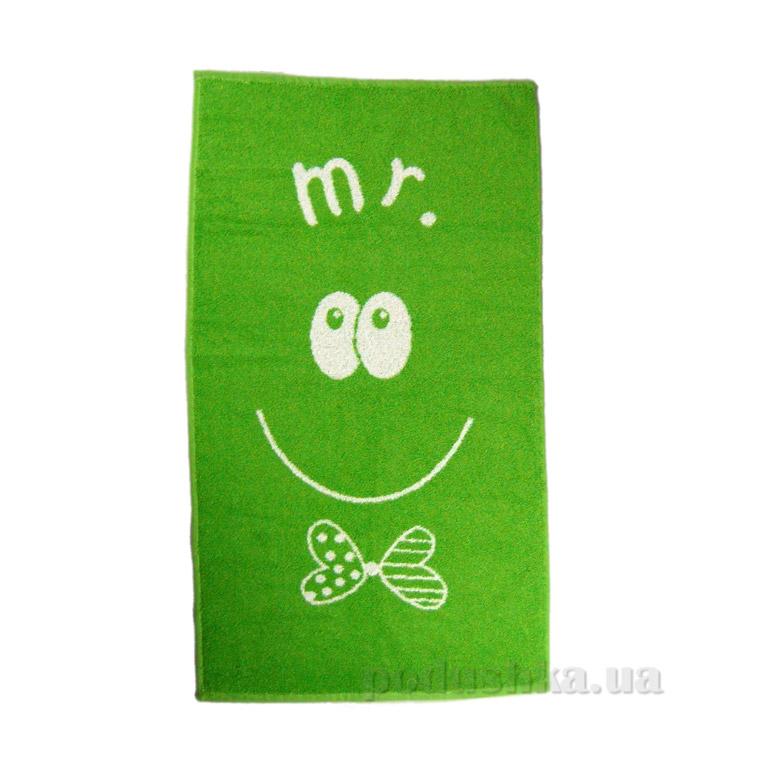 Полотенце махровое Home line Smile MR зелёное