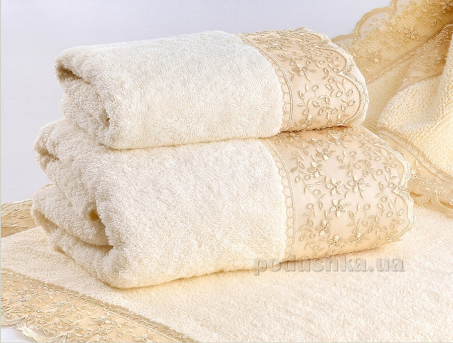 Полотенце махровое Irya Daisy кремовое