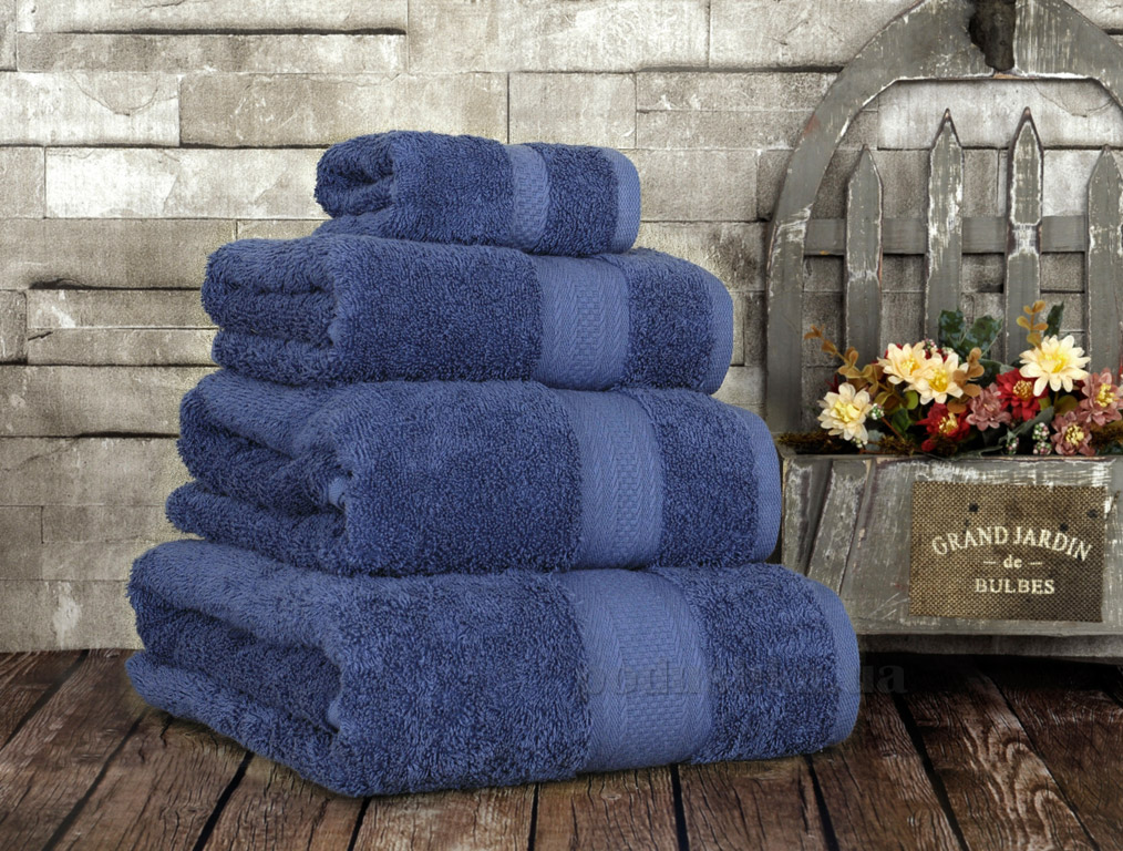 Полотенце махровое Irya Karya dark blue