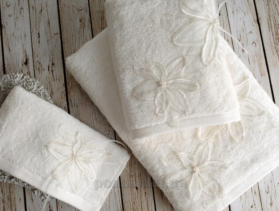 Полотенце махровое Irya Lily молочное