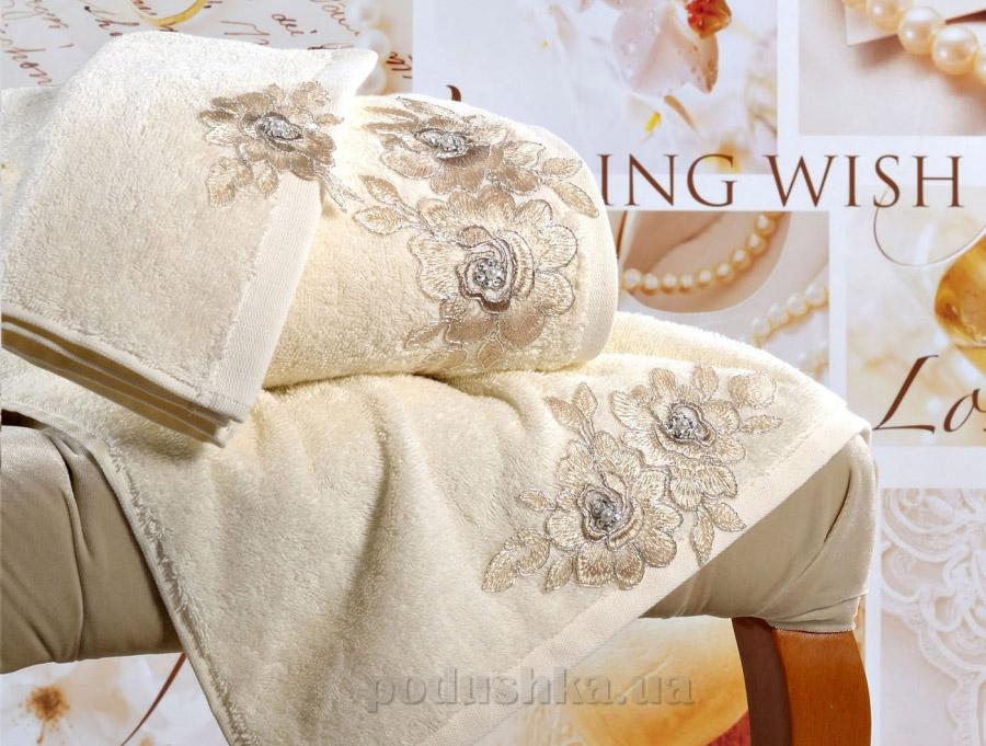 Полотенце махровое Irya Romantic кремовое