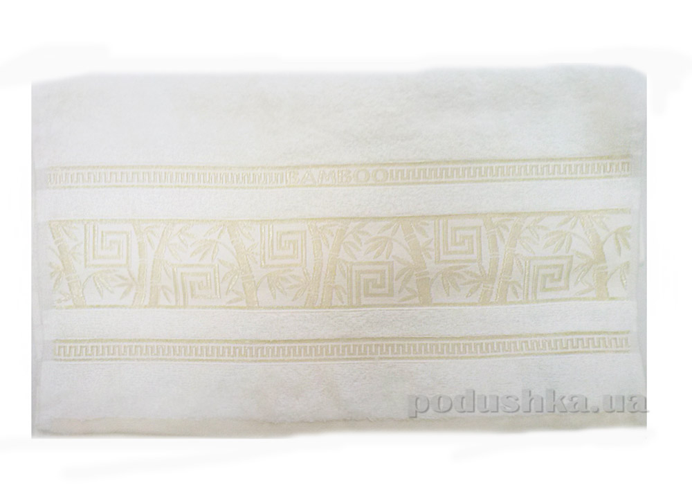 Полотенце махровое Issihome Bamboo Violet кремовый
