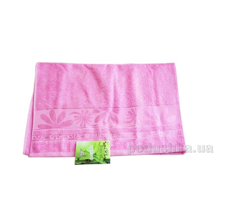 Полотенце махровое Issihome Bamboo Private розовое