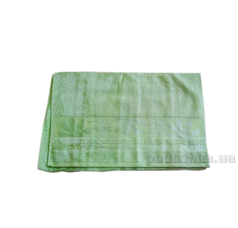 Полотенце махровое Issihome Bamboo Private зеленое