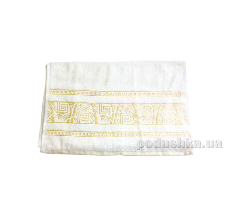 Полотенце махровое Issihome Bamboo Violet белое