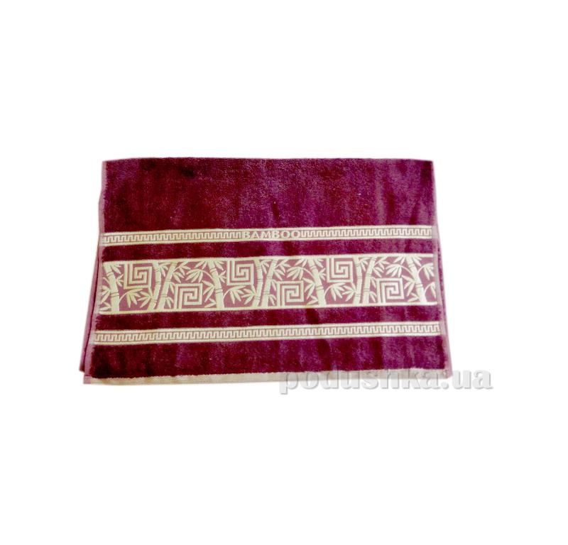 Полотенце махровое Issihome Bamboo Violet бордо