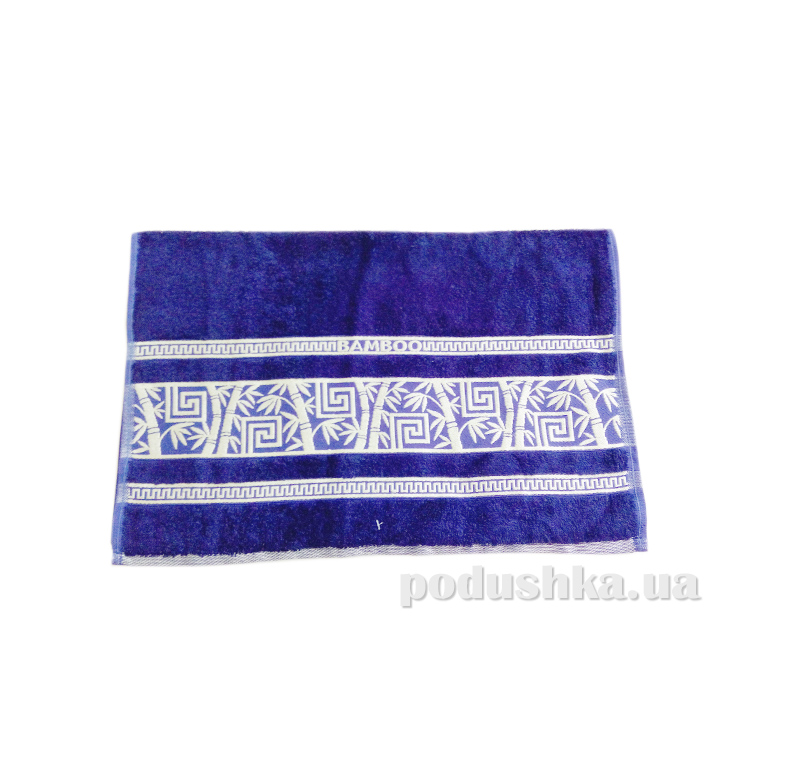 Полотенце махровое Issihome Bamboo Violet синее