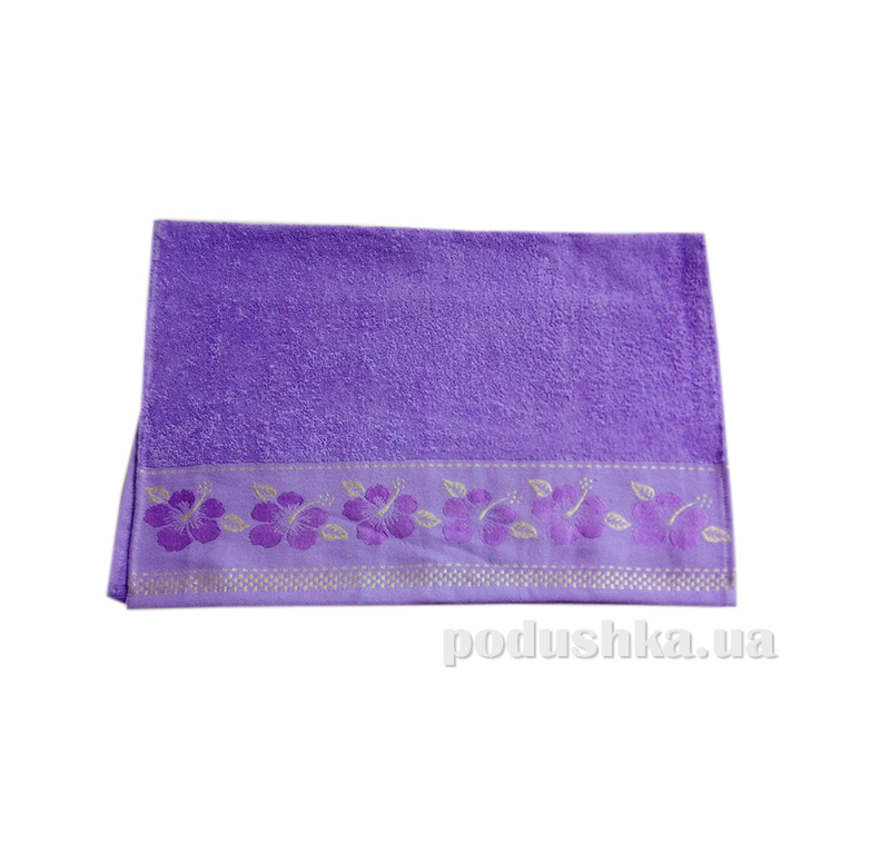 Полотенце махровое Issihome Defne фиолетовое