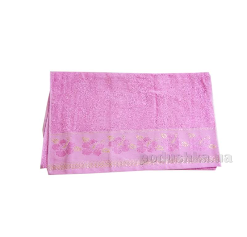 Полотенце махровое Issihome Defne розовое