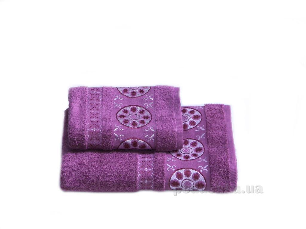 Полотенце махровое Izzihome Erotes-2 темно-розовое