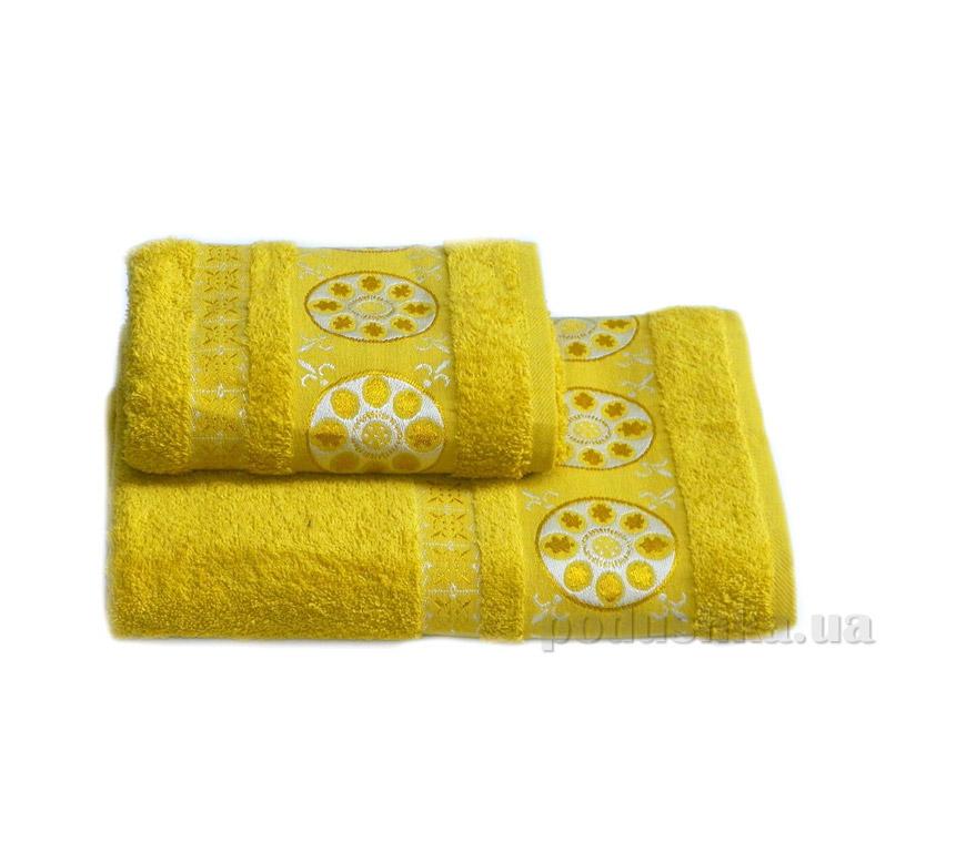 Полотенце махровое Izzihome Erotes-2 желтое