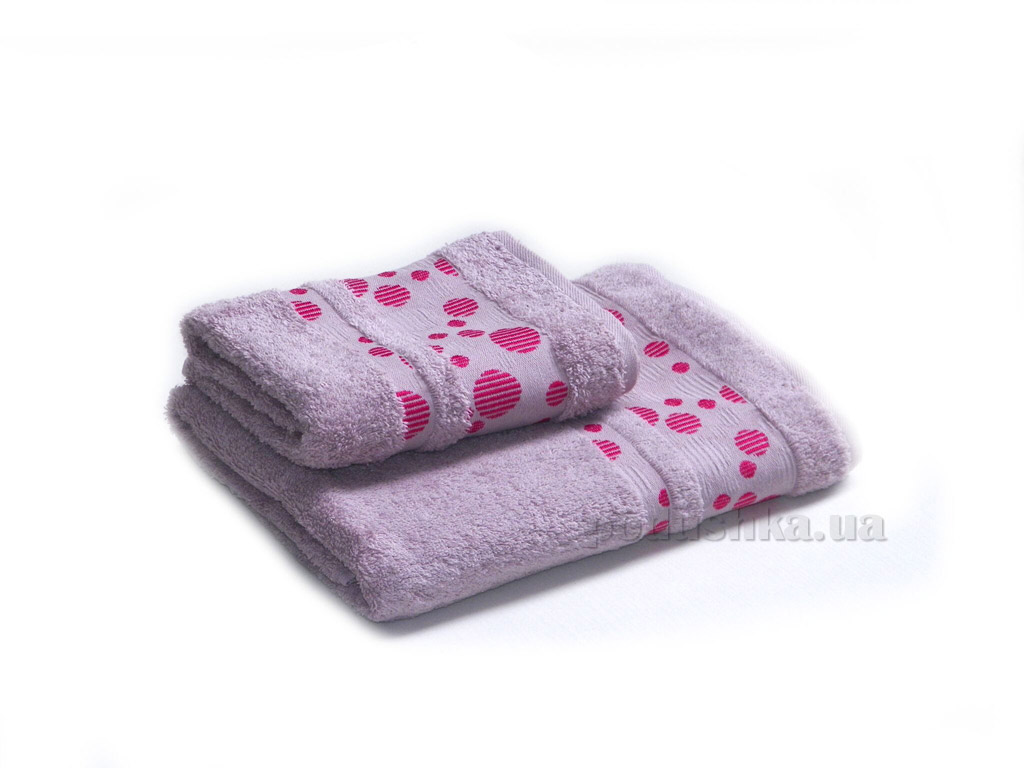Полотенце махровое Izzihome Erotes-3 темно-розовое