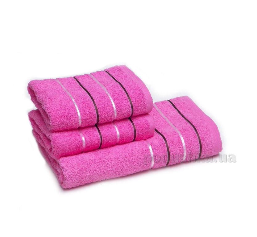 Полотенце махровое Izzihome Kahve Gizgili розовое