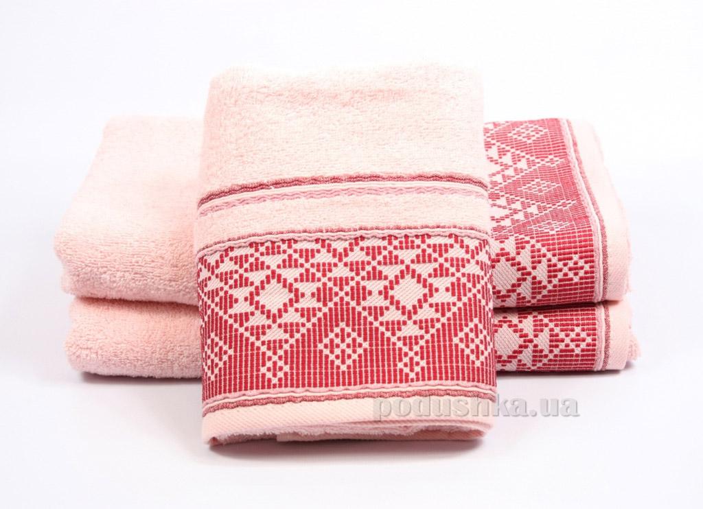 Полотенце махровое Izzihome Kilim розовое