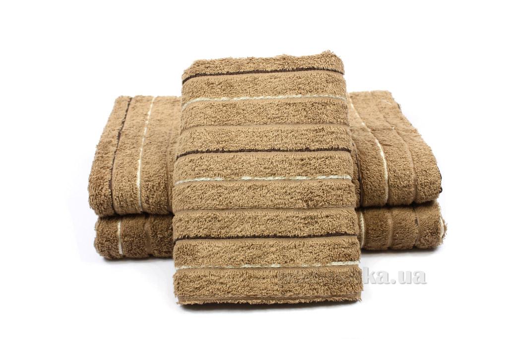 Полотенце махровое Izzihome Sport Lux коричневое