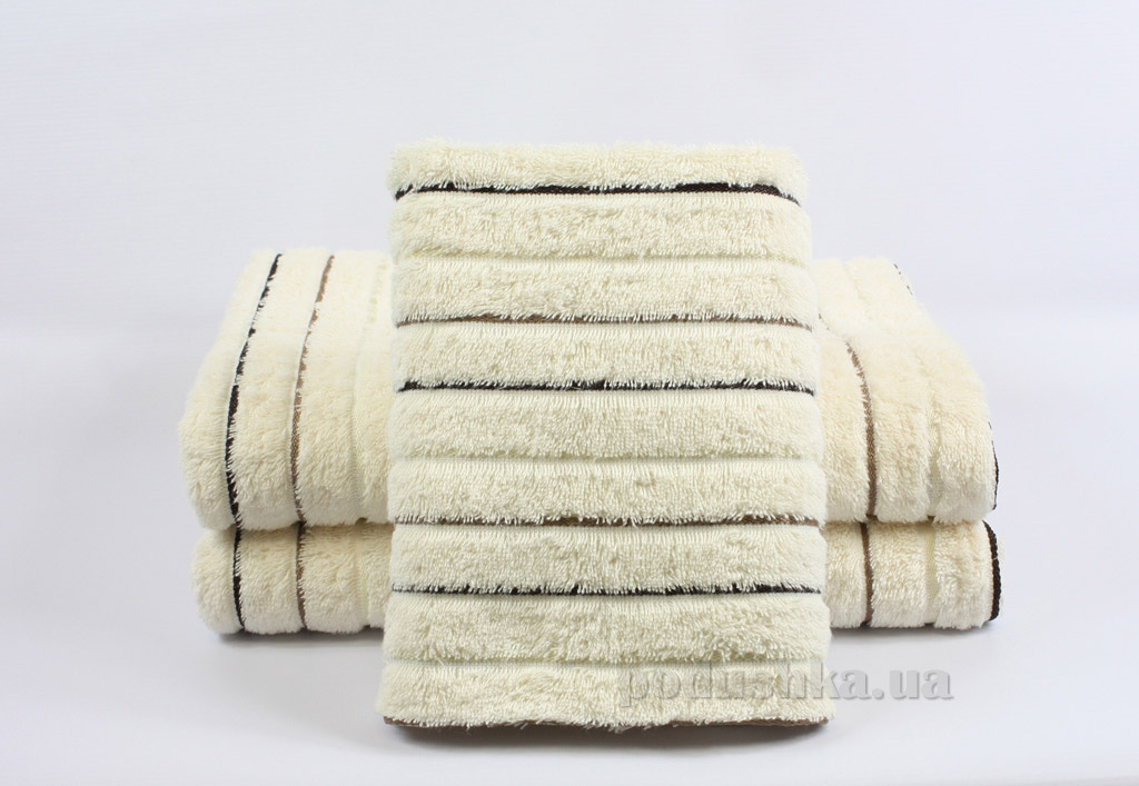 Полотенце махровое Izzihome Sport Lux кремовое