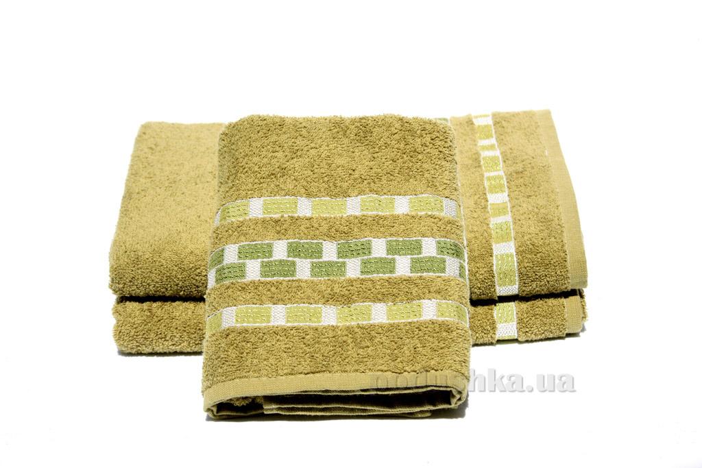 Полотенце махровое Izzihome Sport зеленое