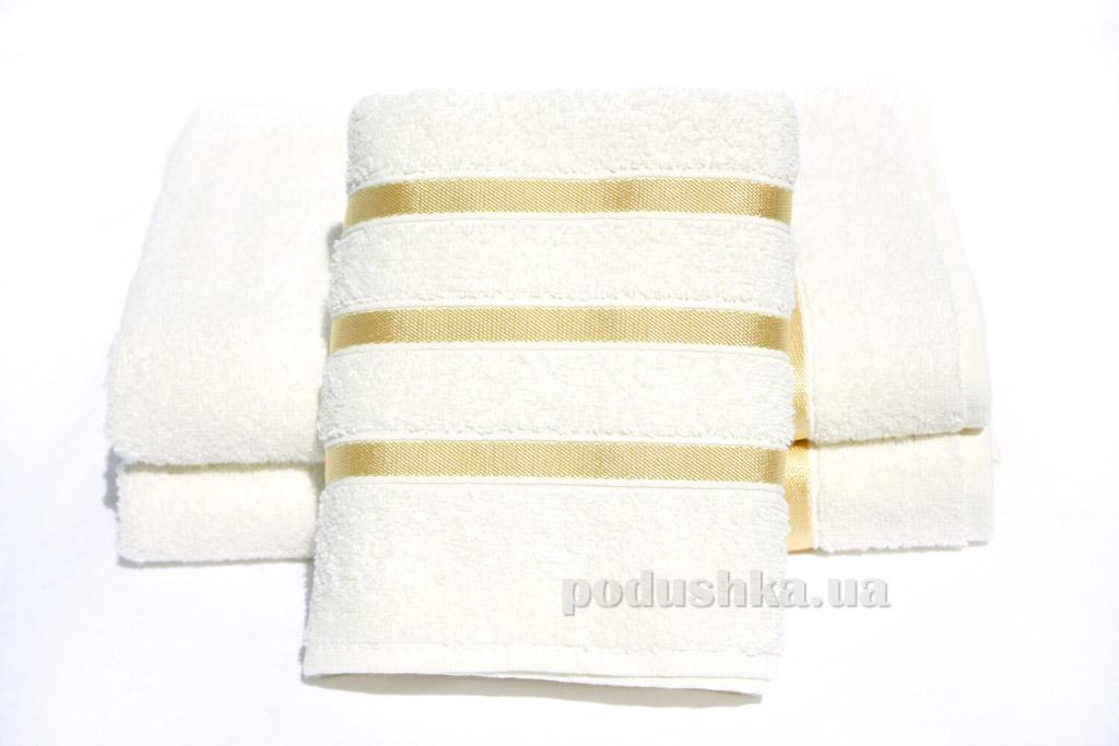 Полотенце махровое Izzihome Stripe Gold молочное