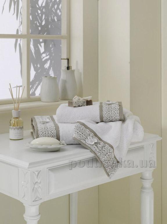 Полотенце махровое Ladinne Elena white-stone