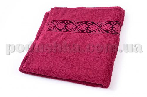 Полотенце махровое Maisonette Inka бордовое