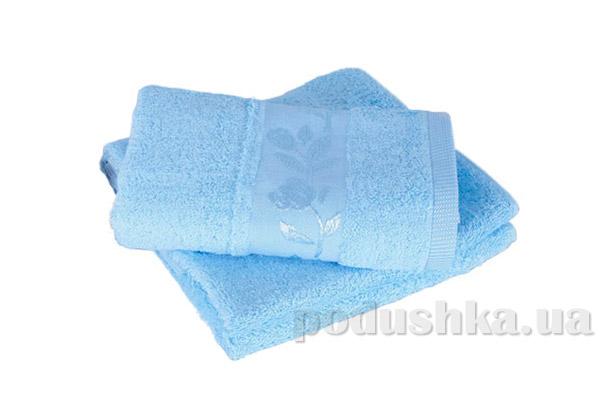Полотенце махровое Maisonette Sebnem голубое