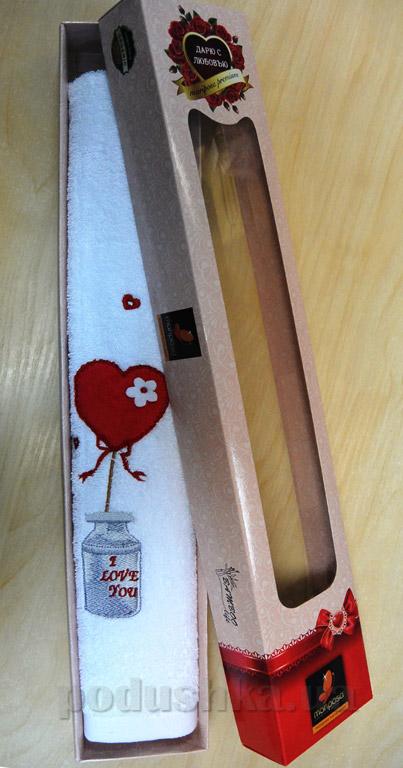 Полотенце махровое Mariposa Любовь в подарочной коробке