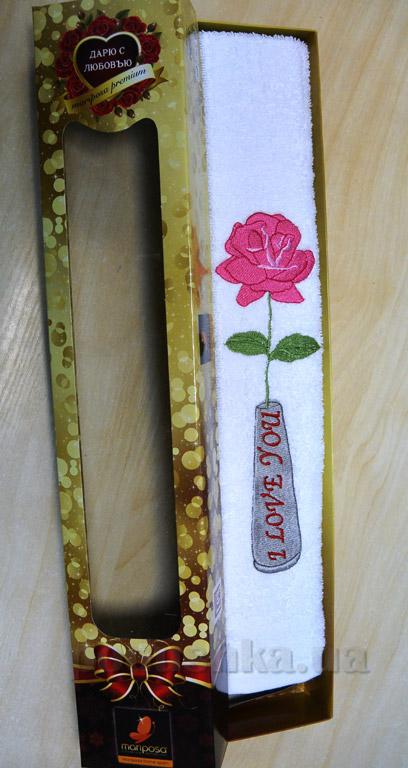 Полотенце махровое Mariposa Роза в подарочной коробке