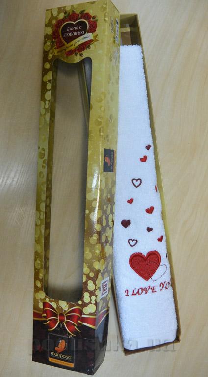 Полотенце махровое Mariposa Сердце в подарочной коробке