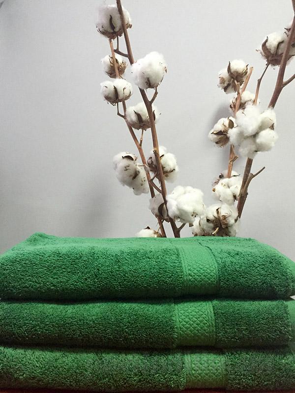 Полотенце махровое Nostra 550 Green зеленое