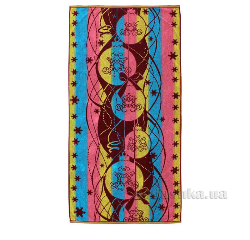 Полотенце махровое Новогодние шарики Речицкий текстиль