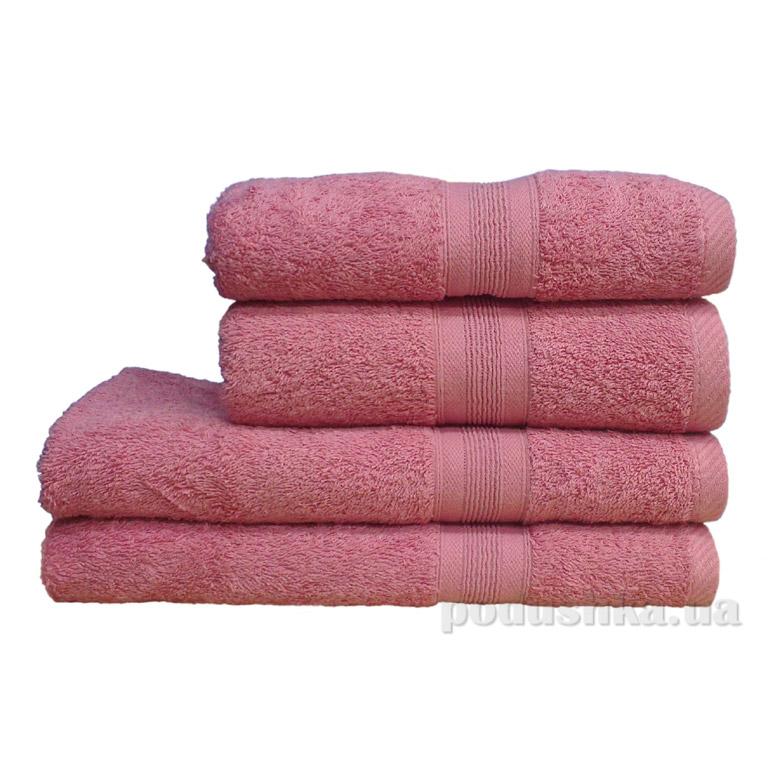 Полотенце махровое Пакистан тёмно-розовое