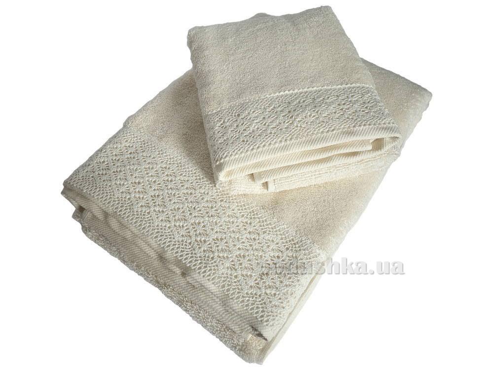 Полотенце махровое Pavia Mandy ecru