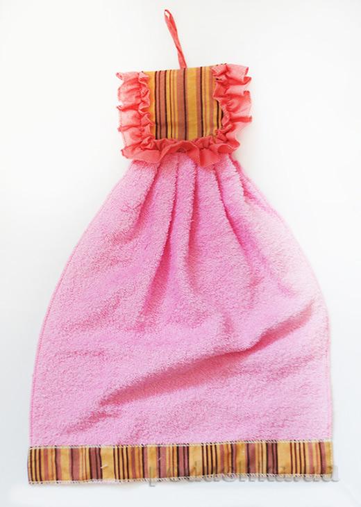 Полотенце махровое Платьице в полоску Zastelli 50079 для кухни