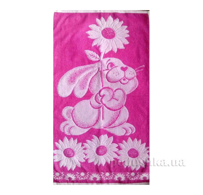 Полотенце махровое Радость Речицкий текстиль розовое 50х90 см  Речицкий текстиль