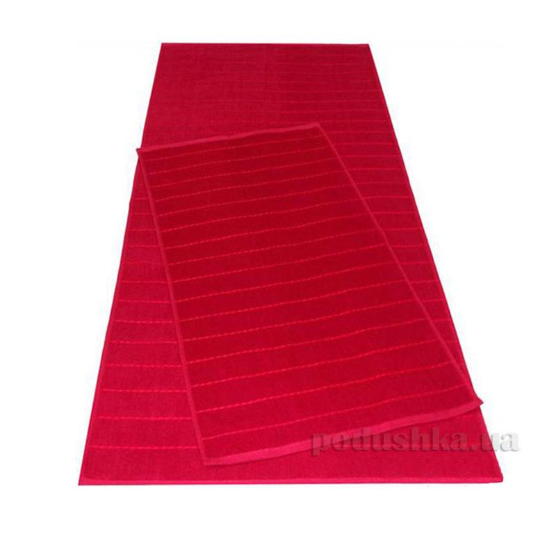 Полотенце махровое Речицкий текстиль Каприз бордовое
