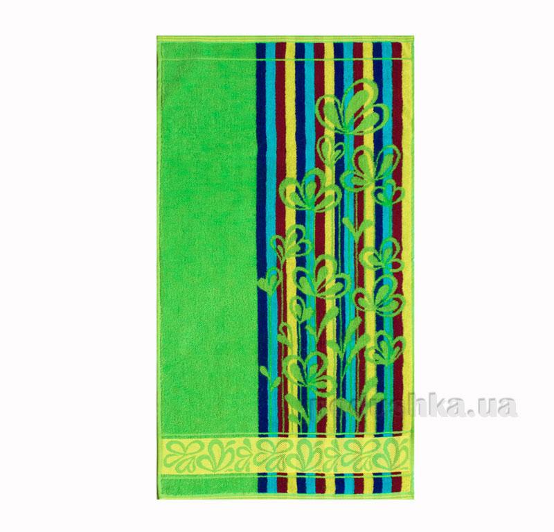 Полотенце махровое Речицкий текстиль Лютики зеленое